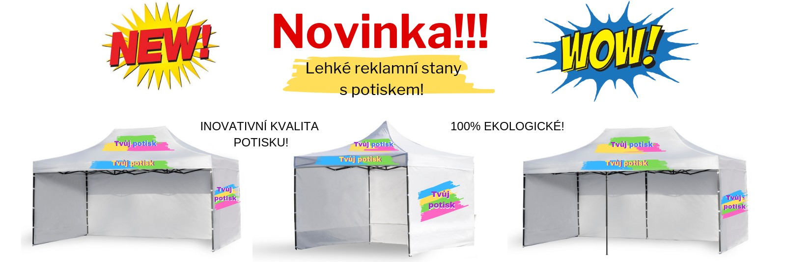 Namioty reklamowe lekkie z nadrukiem czeskie