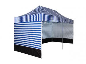 Namiot ekspresowy CIĘŻKI 3x6 PASY NIEBIESKO-BIAŁE